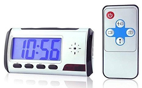 Portable Alarm Clock Spy Camera DVR