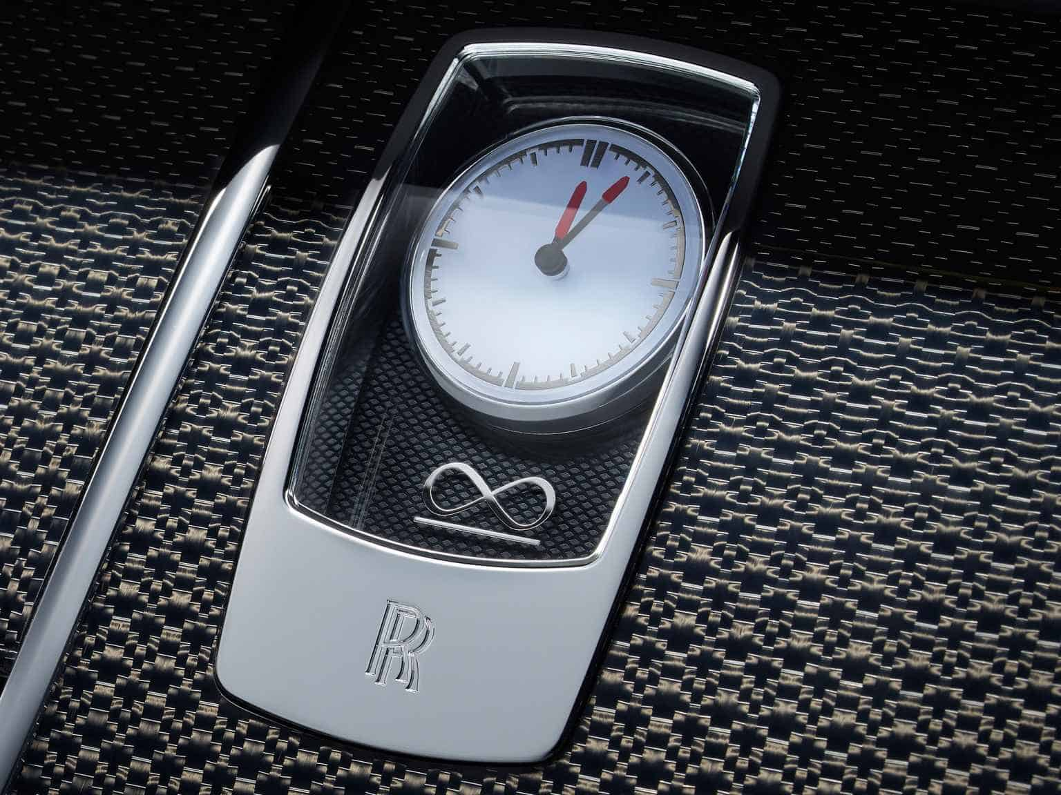 Rolls Royce wraith black badge clock