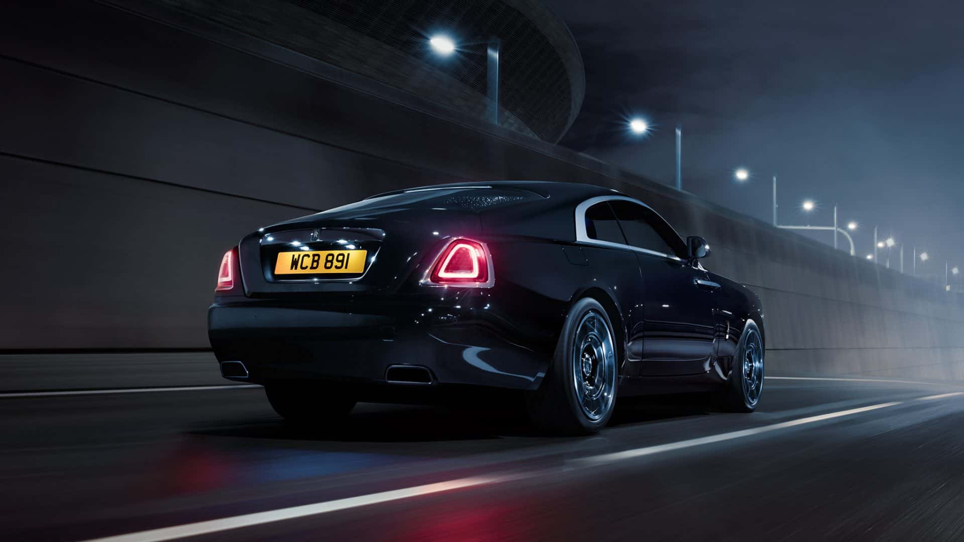 Rolls Royce wraith black badge rear