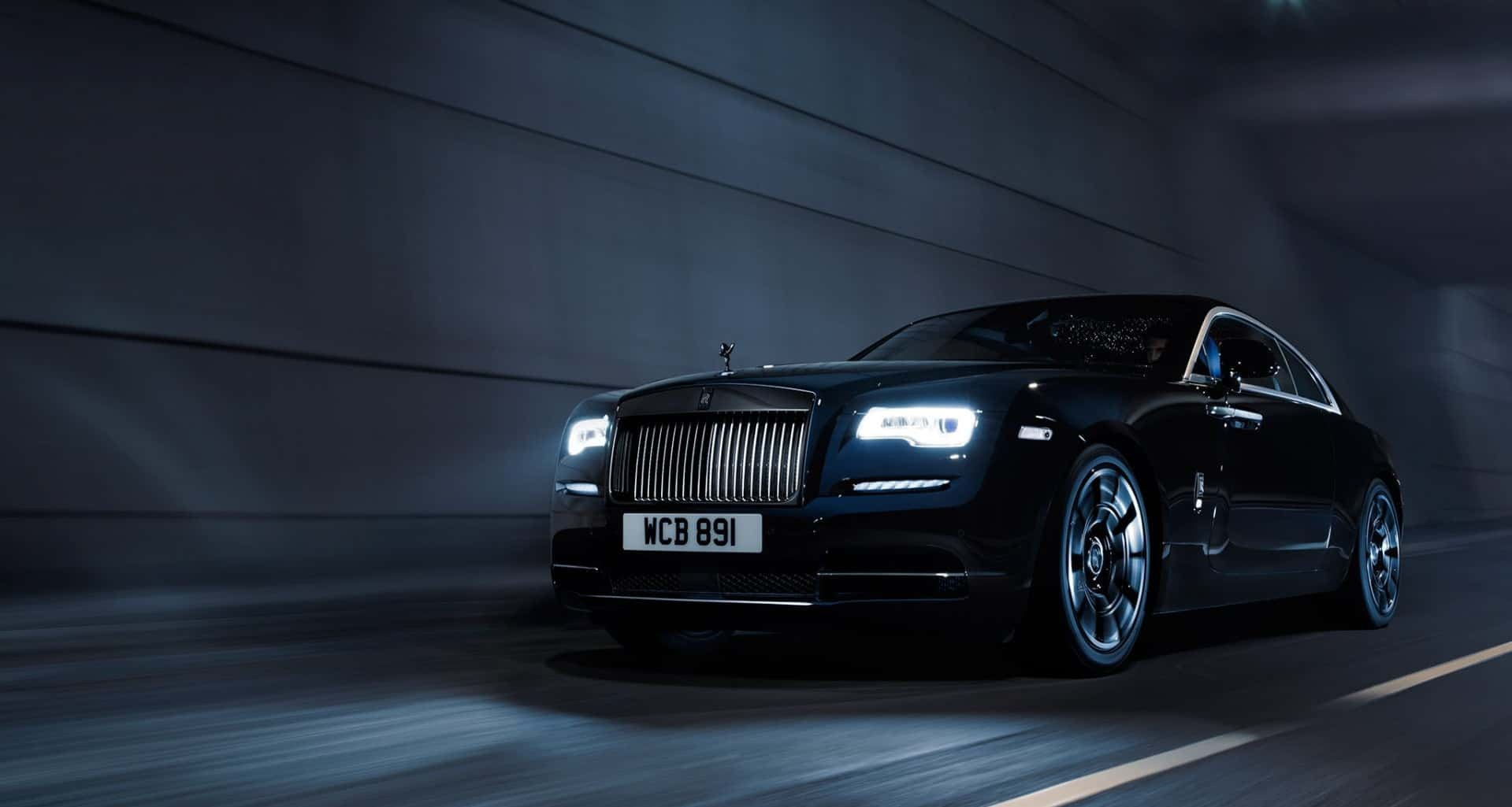Rolls Royce wraith black badge front